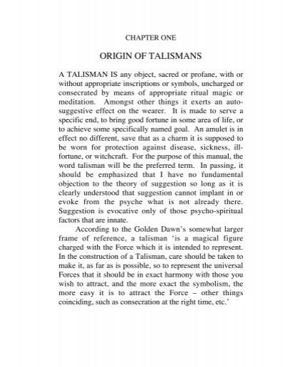how to make and use talismans pdf