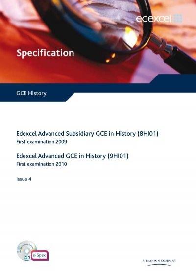 edexcel gce history coursework mark scheme