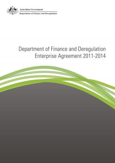 Enterprise Agreement 2011 2014 Department Of Finance And
