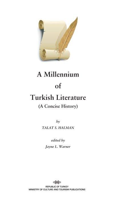 a millenium of turkish literature teda