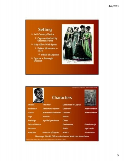 the role and importance of iago in othello the moor of venice Get an answer for 'discuss the importance of race in othello' and find homework help for other othello questions at enotes idea is that othello is a moor.