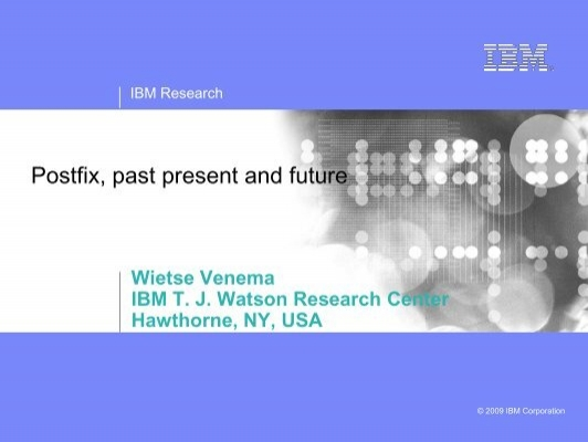 a report on the past and present performance of ibm Ibm research report distributed systems and performance management 1 efforts in the past years mainly focused on describing.