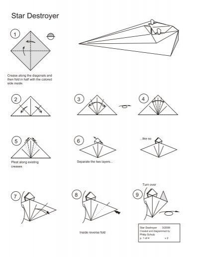 Star Destroyer Star Wars Origami