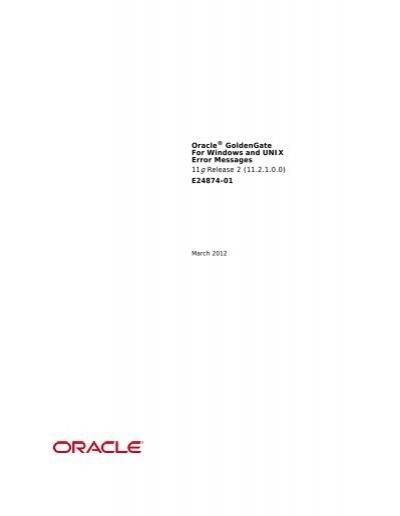 oracle 11g error codes pdf