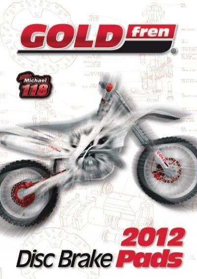 Derbi Senda X-treme 50 SM Brake Disc Pads Rear R//H Goldfren 2003-2010