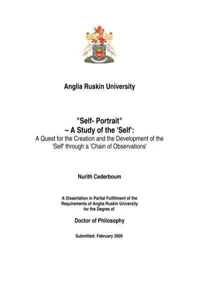 Self Portrait A Study Of The Self