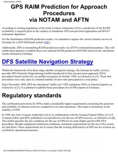NANUs for RAIM Prediction - GPS: The Global Positioning System