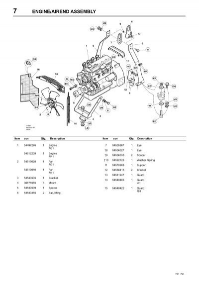 7 engine  airend assembly