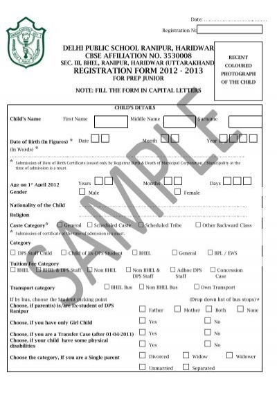 Doc10241329 Admission Form for School Admission Form School – School Admission Form Sample