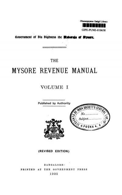 Revenue manual 27 array mysore revenue manual gipe rh yumpu fandeluxe Images
