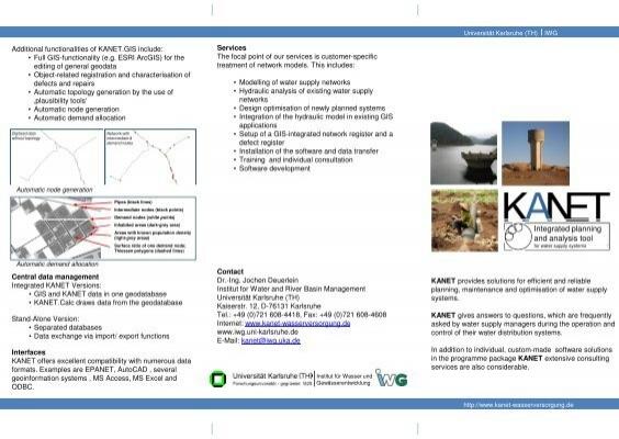 Integrated Planning And Analysis Tool Institut Fur Wasser Und