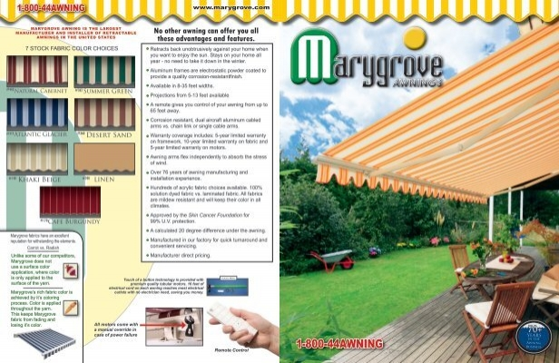 Retractables Brochure Marygrove Awnings