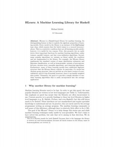 haskell machine learning