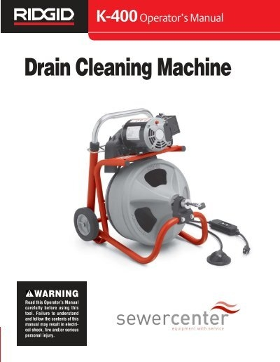 drain cleaning machine ant hire ltd rh yumpu com manual drain cleaner hire Home Depot Drain Cleaner