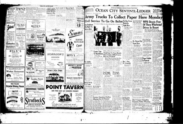 Aug 1944 On Line Newspaper Archives Of Ocean City