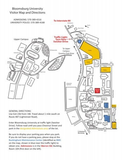 Campus Map   Bloomsburg University