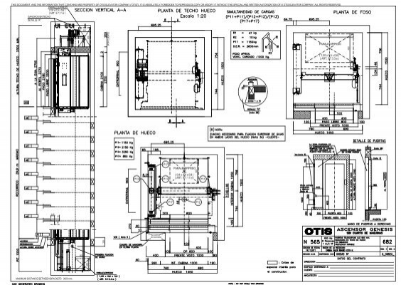 From Autocad Drawing N565 Otis Elevator Company