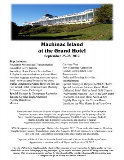 Mackinac Island At The Grand Hotel City Of Dearborn Heights