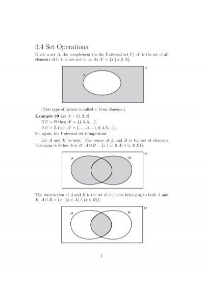 34 Set Operations