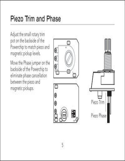 piezo trim and phase adju