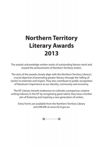 Northern Territory Literary Awards 2013