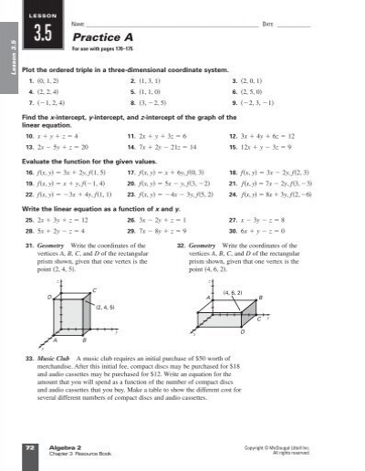 mcdougal littell algebra 1 chapter 5 resource book answer key maths questions and answers for. Black Bedroom Furniture Sets. Home Design Ideas