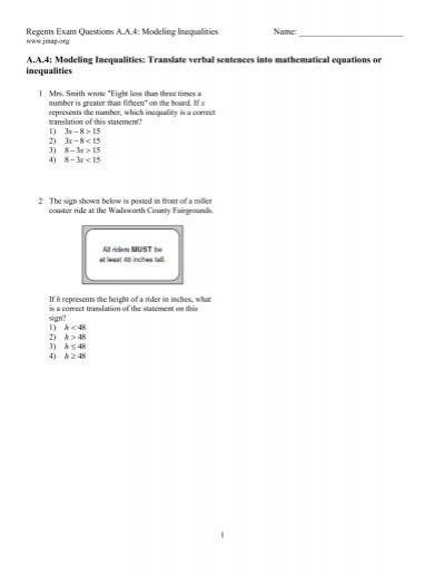 Algebra » Translating Algebraic Expressions Worksheets - Free ...