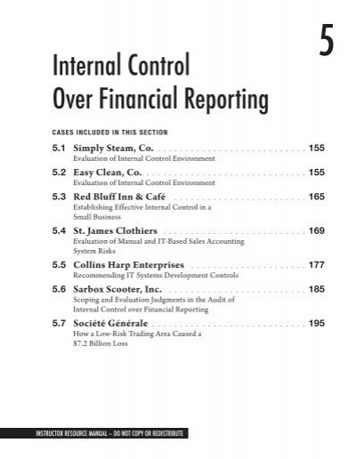 Section 5 Internal Control Over Financial Reporting Pdf