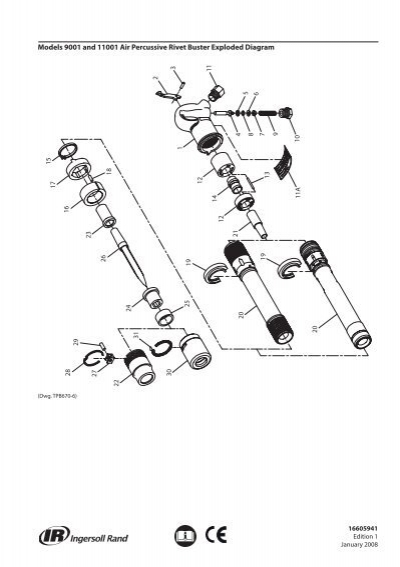 Parts Information Manual  Air Percussive Rivet Buster