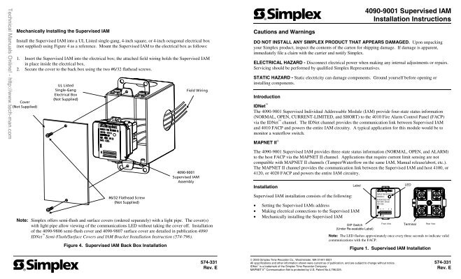 15319844 4090 9001 supervised iam installation instructions alarm device simplex 4090 9001 wiring diagram at gsmx.co