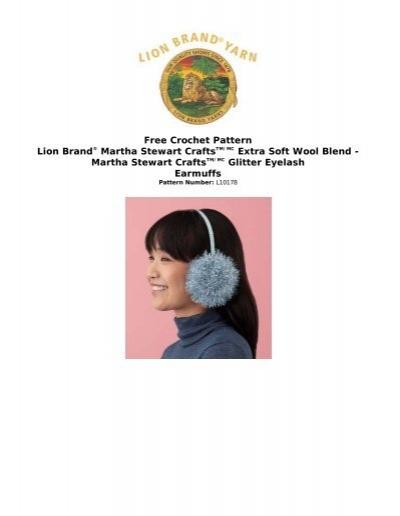 Free Crochet Pattern Lion Brand® Martha Stewart ... - Joann.com