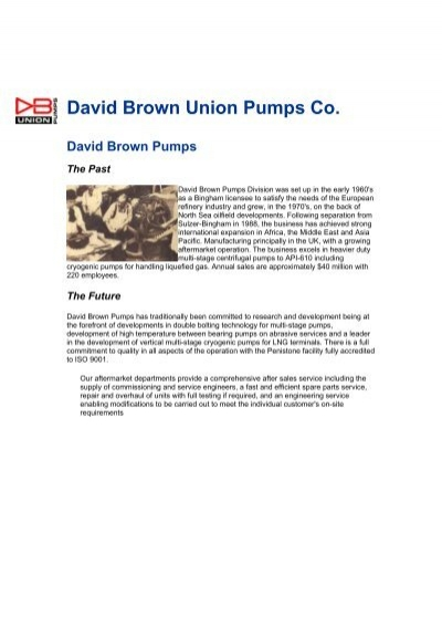 david brown union pumps co leymas co ltd rh yumpu com