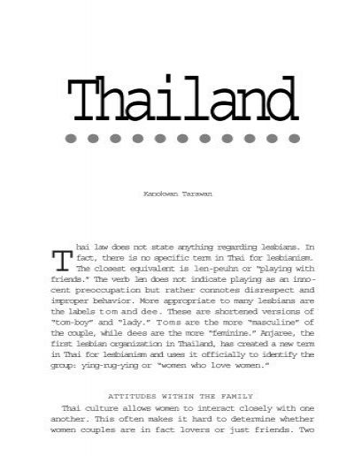 Young Thai Lesbians