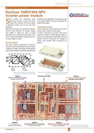 Danfoss 1200v 30a Npc Inverter Power Module System Plus