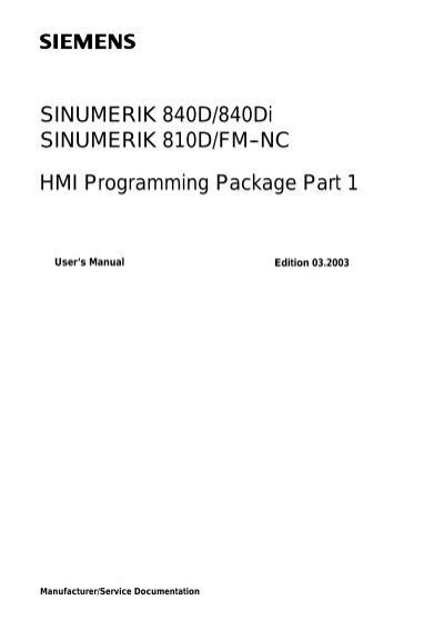 sinumerik 840d 840di sinumerik 810d fm nc hmi