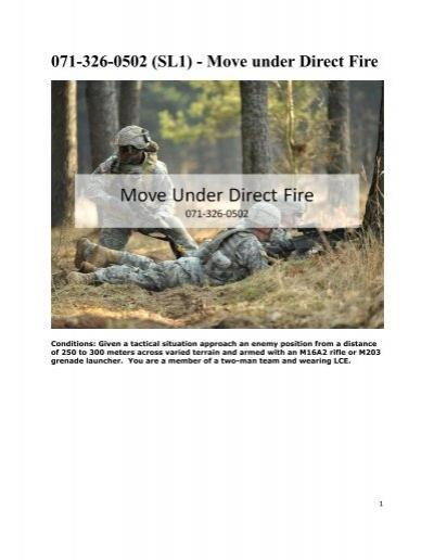 Move Under Direct Fire : Sl move under direct fire
