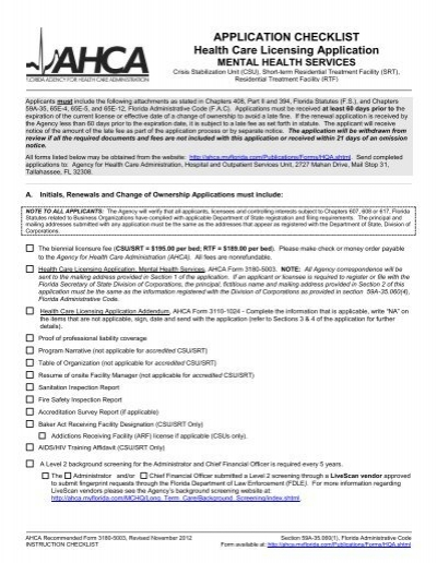 Ahca Form 3180 5003 Agency For Health Care Administration