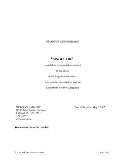 Singulair Free Trial