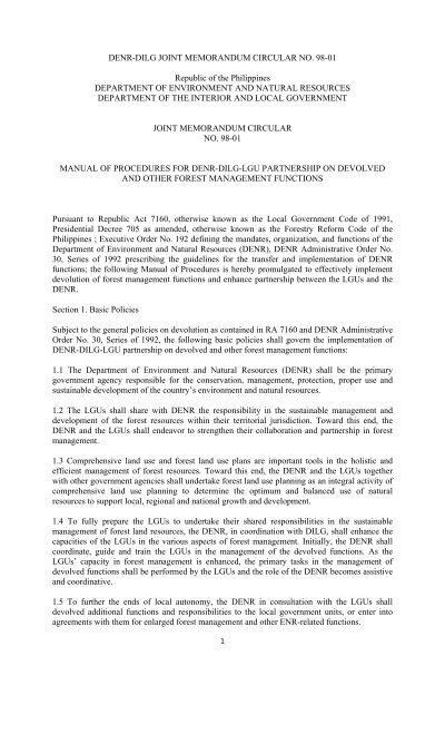 functions of memorandum