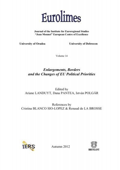 Enlargements Borders And The Changes Of Eu Political Priorities