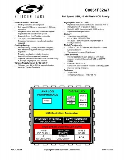 Silicon Labs C8051F340-GQ 8bit 8051 Microcontroller 48MHz 64 kB Flash