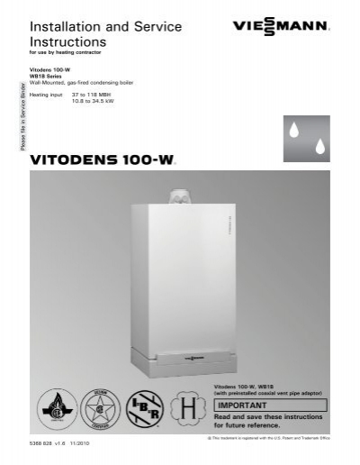 Instructions Vitodens 100 W Viessmann, Viessmann System Boiler Wiring Diagrams