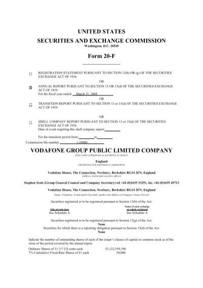 31 March 2008 Download Report Vodafone