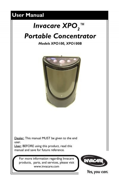 invacare portable oxygen concentrator manual