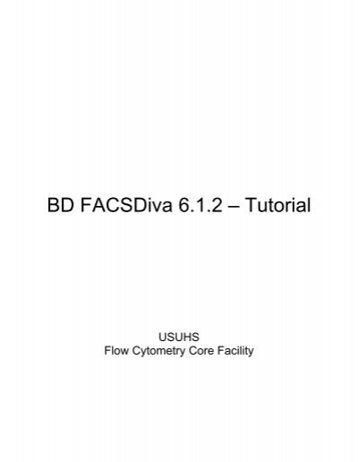 BD FACSDiva Software 6.0 Reference Manual