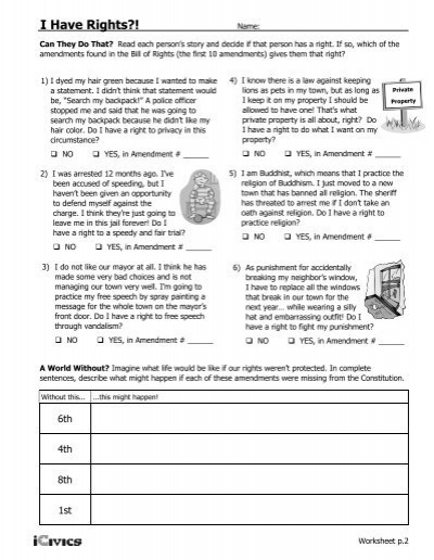 35 Icivics Bill Of Rights Worksheet - Worksheet Project List