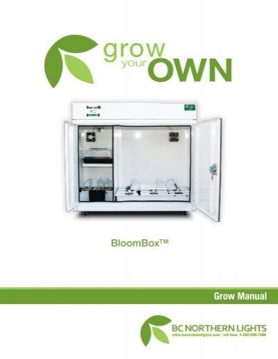 Grow Manual BloomBox™   BC Northern Lights
