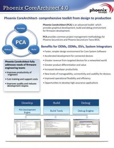 Benefits for OEMs, ODMs, ISVs, System Integrators Phoenix