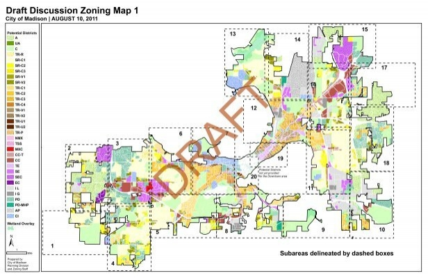 Draft Discussion Zoning Map 1 - City of Madison, Wisconsin