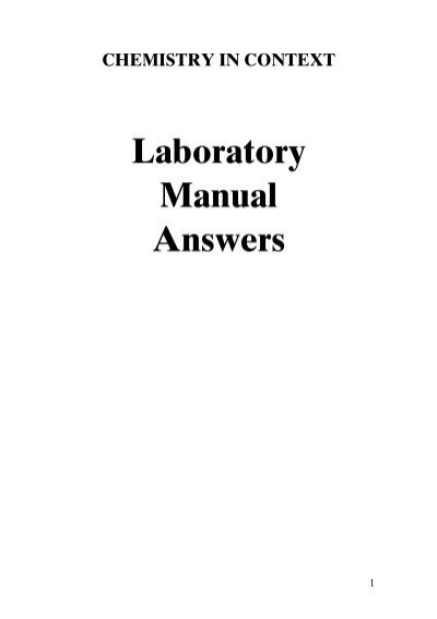 laboratory manual answers nelson thornes rh yumpu com chemistry 117 lab manual answer key chemistry 1210 lab manual answer key
